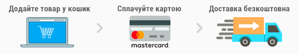Free shipping with Mastercard and 27.ua!